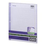 Top Flight Reinforced Filler Paper College Rule 100 Sheets