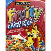 Best Choice Cereal, Fruity Crisp Rice