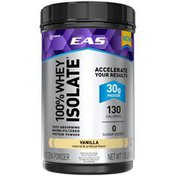 EAS Vanilla EAS 100% Whey Protein Isolate Protein Powder Vanilla Powder Canister