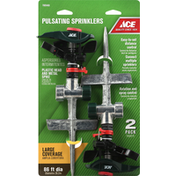 Ace Bakery Pulsating Sprinklers, Large Coverage, 2 Pack