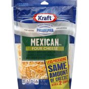 Kraft Shredded Cheese, Mexican Style, Four Cheese