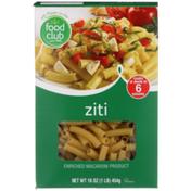 Food Club Enriched Macaroni Product, Ziti