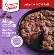 Duncan Hines Pan Cookie Mix, Double Chocolate Chunk, Mega Cookie