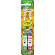 GUM Crayola Pip-Squeaks Ultrasoft Toothbrush