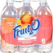 Fruit 2 O Purified Water Beverage, Peach, 6 Pack