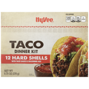Hy-Vee Taco Dinner Kit Hard Shells With Taco Sauce & Seasoning Mix
