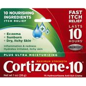 Cortizone 10 Anti-Itch Creme, Maximum Strength, Plus Ultra Moisturizing