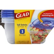 Glad Containers & Lids, Tall Entree