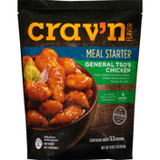 Crav'n Flavor General Tso'S Chicken Fully Cooked, Boneless, Tempura Chicken Breast Pieces In A General Tso Sauce Meal Starter