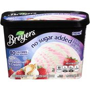 Breyers No Sugar Added Strawberries/Cream Frozen Dairy Dessert