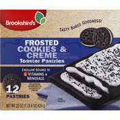 Brookshire's Toaster Pastries, Cookies & Cream, Frosted