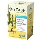 Stash Tea Herbal Tea, Organic, Sunny Dandelion Root, Bags