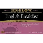 Bigelow Black Tea, English Breakfast, Bags