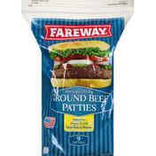 Fareway Beef Patties, Ground, 85% Lean/15% Fat