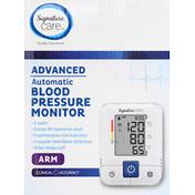 Signature Care Blood Pressure Monitor, Automatic, Advanced, Arm