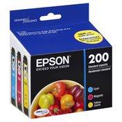 Epson Ink Cartridge, Standard-Capacity, Cyan/Magenta/Yellow, T200520