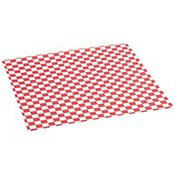 """Bagcraft 12"""" x 12"""" Papercon Red Checkered Grease-Resistant Paper Wrap&Liners"""
