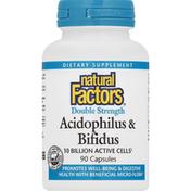 Natural Factors Acidophilus & Bifidus, Double Strength, Capsules