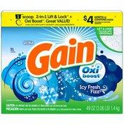 Gain Powder Laundry Detergent, Icy Fresh Fizz, 31 Loads 49 Oz Laundry