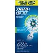 Oral-B Power 1000 CrossAction Electric Toothbrush, White, Powered by Braun + Bonus Refill