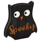 Global International Enterprises Wooden Character, Owl/Pumpkin/Ghost, 6 Inch