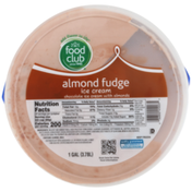 Food Club Almond Fudge Chocolate Ice Cream With Almonds