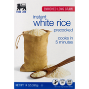 Food Lion White Rice, Instant, Precooked, Enriched Long Grain, Box