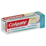 Colgate Toothpaste, Anticavity Fluoride and Antigingivitis, Advanced Fresh + Whitening, Gel