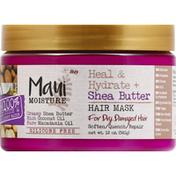 Maui Moisture Hair Mask, Heal & Hydrate, Shea Butter