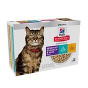 Hill's Science Diet Adult Cat Food SSS Value Pack