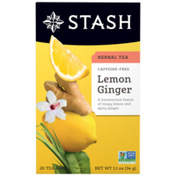 Stash Tea Lemon Ginger Herbal Tea, Caffeine Free