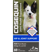 Cosequin Hip & Joint Support, Tasty, Chewable Tablets