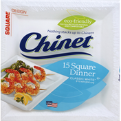 Chinet Plates, Square Dinner, 9-1/2 Inch