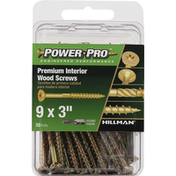 Power Pro Wood Screws, Premium, Interior