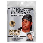 WavEnforcer Do-Rag, Premium, Black