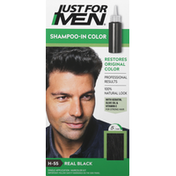 Just For Men Shampoo-In Color, Real Black H-55