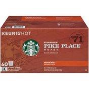 Starbucks Medium Roast Pike Place Roast 100% Arabica Ground Coffee K-cup Pods