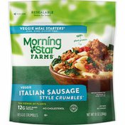 Morning Star Farms Crumbles, Plant Based Protein Vegan Meat, Frozen Meal, Italian