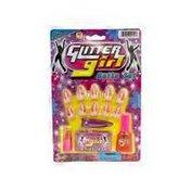 JaRu Glitter Girl Nails Set