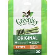 GREENIES Dental Treats, Original, Petite