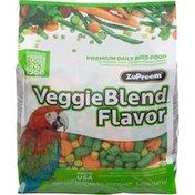 ZuPreem Veggie Blend with Natural Carrot Flavor Premium Daily Bird Food for Medium & Large Birds