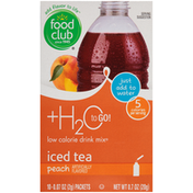 Food Club Peach Iced Tea Low Calorie Drink Mix
