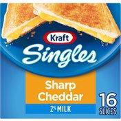 Kraft Sharp Cheddar Cheese Slices with 2% Milk