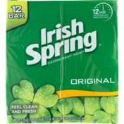 Irish Spring Deodorant Soap Original - 12 CT