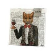 Paperproducts Design Lord Philip The Fox Beverage Paper Napkins