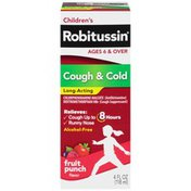 Children's Robitussin Cough & Cold 8 Hour Long Acting Syrup, Cough & Cold 8 Hour Long Acting Syrup