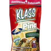 Klass Drink Mix, Sweetened, Pineapple Flavored