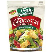Fresh Gourmet Roasted Garlic Focaccia Croutons