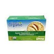 Clearly Organic Organic Instant Oatmeal, Apple Cinnamon