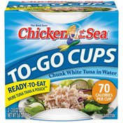 Chicken of the Sea Cup in Water Albacore Tuna